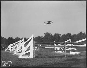 Aeroplane going over the handles at Southern Mass.