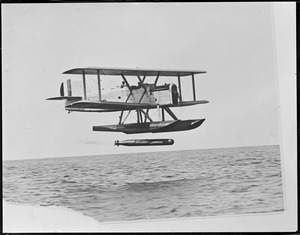Firing a torpedo from a seaplane
