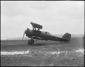 Mail plane lands at East Boston Airport, 1928