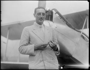 Frank T. Courtney - Famous flier that was forced down into water off the coast of Portugal because of fire and was rescued at East Boston Airport.