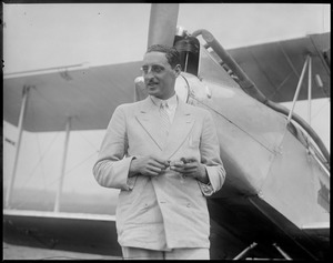 Capt. Frank T. Courtney - English aviator who crashed into ocean off Portugal. He was rescued at East Boston Airport.