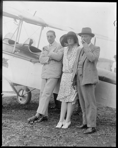 British aviator Frank T. Courtney and wife at East Boston Airport