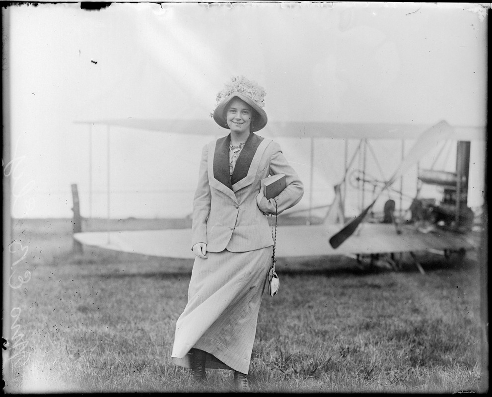 Mrs. E.B. Ely, wife of one of the first aviators to fly here in Boston