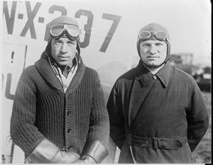 Stultz and Levine after returning from Havana in 1928