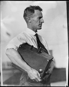 Capt. Charles Kingsford-Smith Commander and Pilot of the Southern Cross which successfully completed a remarkable trans-pacific flight from Oakland, CA to Australia carrying an underwater radio set.