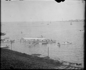 Airship at Marblehead Harbor