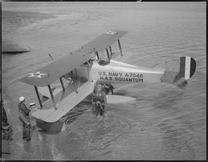 Seaplane at Squantum Naval Air Station U.S. Navy A-7048
