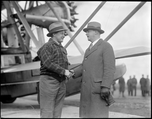 Bernt Balchen and Capt. Edison at East Boston