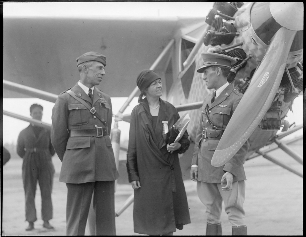 Capt. Carranza meets Mrs. Rogers at Lowell Airport