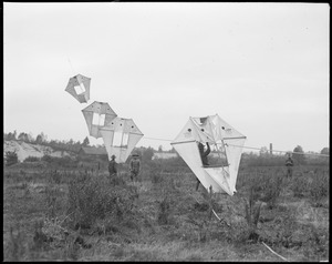Man-kites at Fort Devens