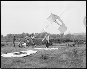Man-kites fly at Camp Devens