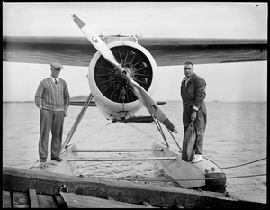 Donald MacMillan and his plane he flew with