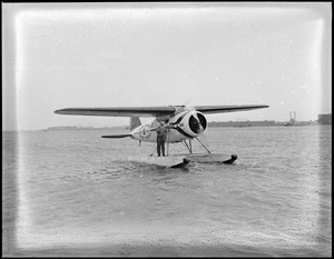 Donald MacMillan and his plane