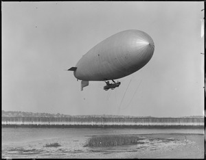 Army blimp TC-5 over East Boston Airport
