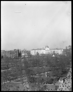 Zeppelin: Over State House and Common