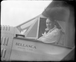 Russell Boardman and his plane