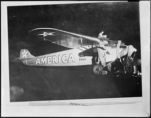 America - Byrd's plane in flight