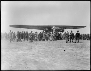 Byrd's South Pole plane before they put on pontoons -  East Boston Airport