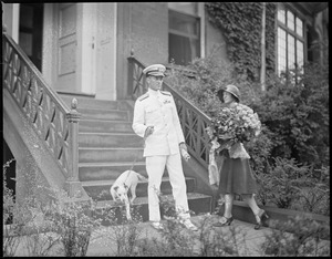 Admiral Byrd and wife in Boston