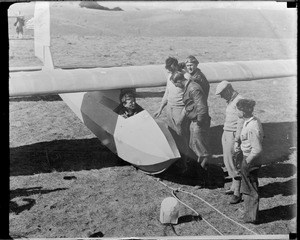 Col. Lindbergh and his glider