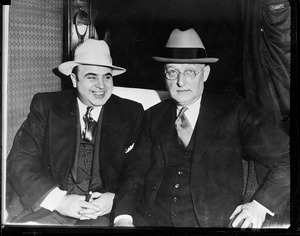 Al Capone taken for a ride - Atlanta prison with H.C.W. Laubenheiner, U.S. Marshal
