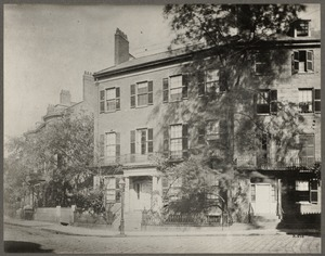 Massachusetts. Boston. Home of Daniel Webster. Summer Street, 1850