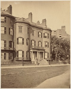 Houses, Summer St. with Daniel Webster House at extreme right, built c. 1835, razed c. 1865