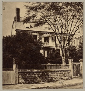 Hancock House, -1863. Beacon Street