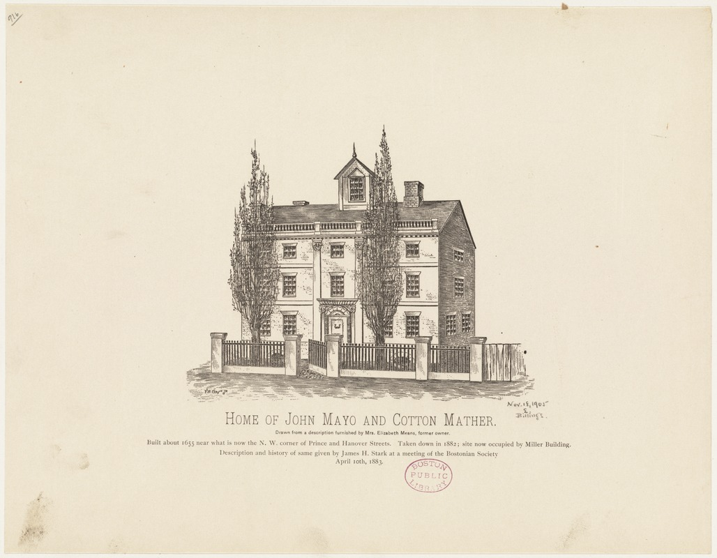 Home of John Mayo and Cotton Mather