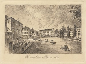 Bowdoin Square, Boston - 1825