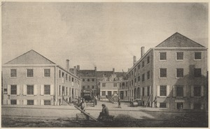 The northerly side of Bromfield Place, 1829. Now 11-29 Bromfield St.