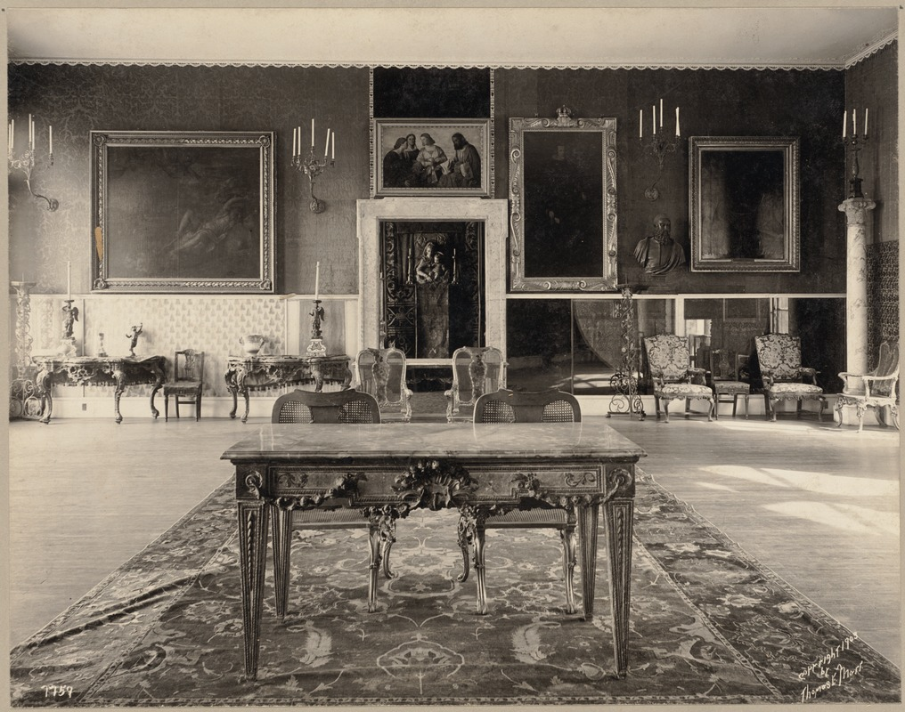 Boston. Fenway Court. Titian room, looking into Long Gallery