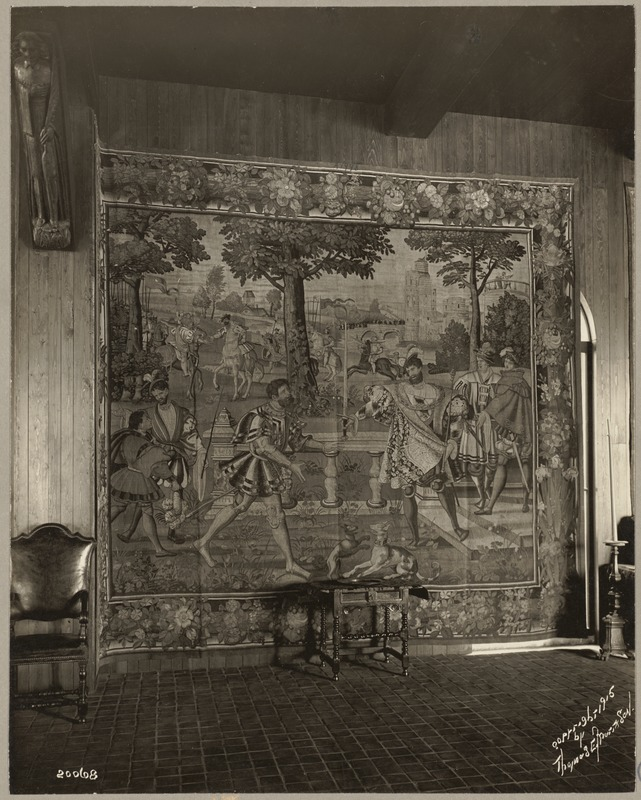"""Boston. Fenway Court. Flemish Tapestry room. One of the """"Grand Duke"""" tapestries"""
