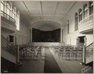 Boston. Fenway Court. Music room, looking toward stage