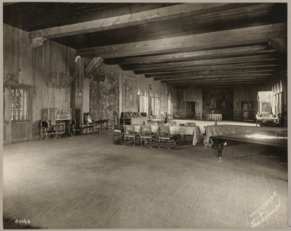Boston. Fenway Court. Flemish Tapestry room, looking toward Small Gallery