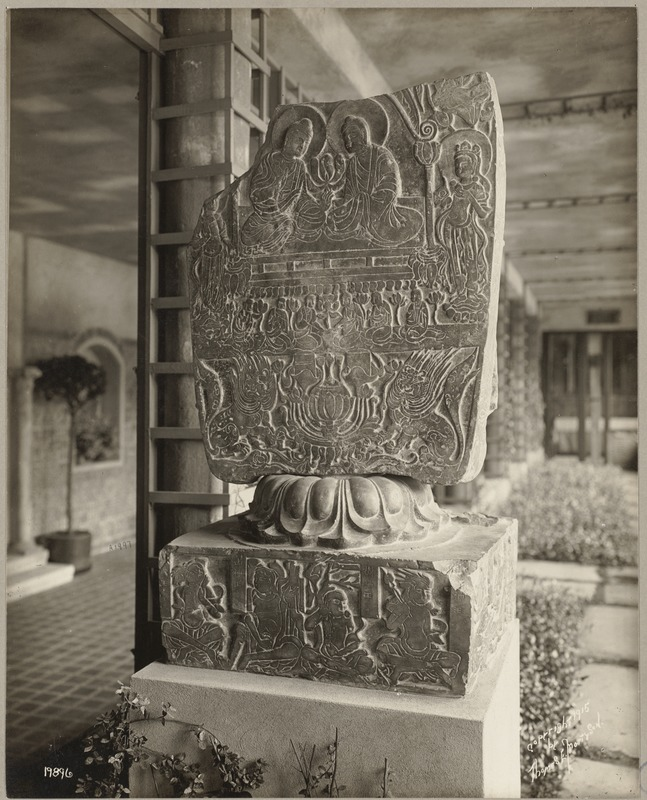 Boston. Fenway Court. Early Chinese. Bas-relief. Slate