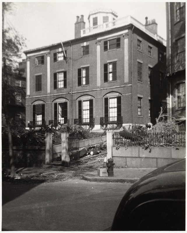 No. 85 Mount Vernon Street. Designed by Charles Bulfinch 1800-1802
