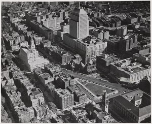 Aerial view of Copley Square