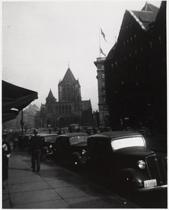 Copley square from Huntington Avenue