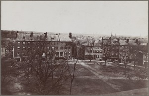Boston, Massachusetts. Fort Hill Square. North side before demolition