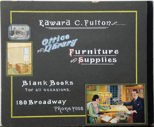 Edward C. Fulton Office and library furniture and supplies 180 Broadway