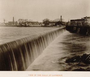 View of the falls at Lawrence