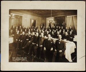 Massachusetts Legislature 1888 25th Anniversary Reunion