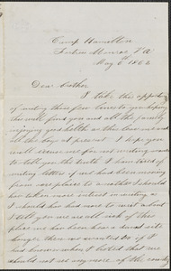Letter from John Jubb, Camp Hamilton, Fortress Monroe Va., to William Jubb, West Chelmsford, Mass., May 6, 1862