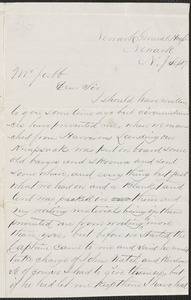 Letter from Edward H. Brown, Newark General Hospital., Newark N.J., to Thomas Jubb, West Chelmsford, Mass.