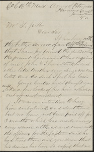 Letter from Edward E. Brown, Harrisons Landing, James River Va., to Thomas Jubb, West Chelmsford, Mass.