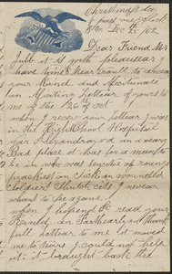 Letter from [George Curtis] to Thomas Jubb, December 25, 1862