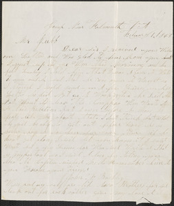 Letter from John F. Buckly, camp near Falmouth V.A., to Thomas Jubb, West Chelmsford, Mass., February 1, 1863
