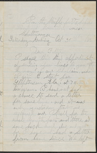 Letter from William Jubb, near Chattnooga, to Thomas Jubb, October 31, 1863