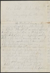 Letter from William Jubb, Lookout Valley, to Thomas Jubb, West Chelmsford, Mass., November 8, 1863